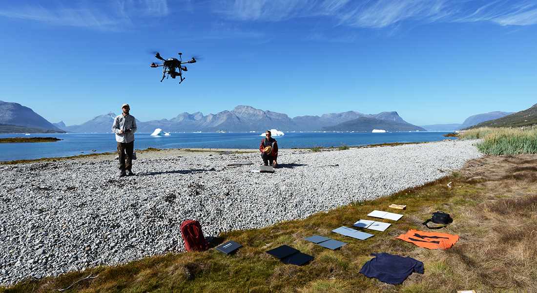 Use of drone in Greenland
